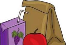Brown Bag, Apple, Juice Box