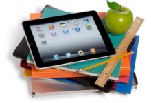 School Books and Tablet