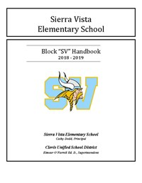Cover Sheet for Block SV Award