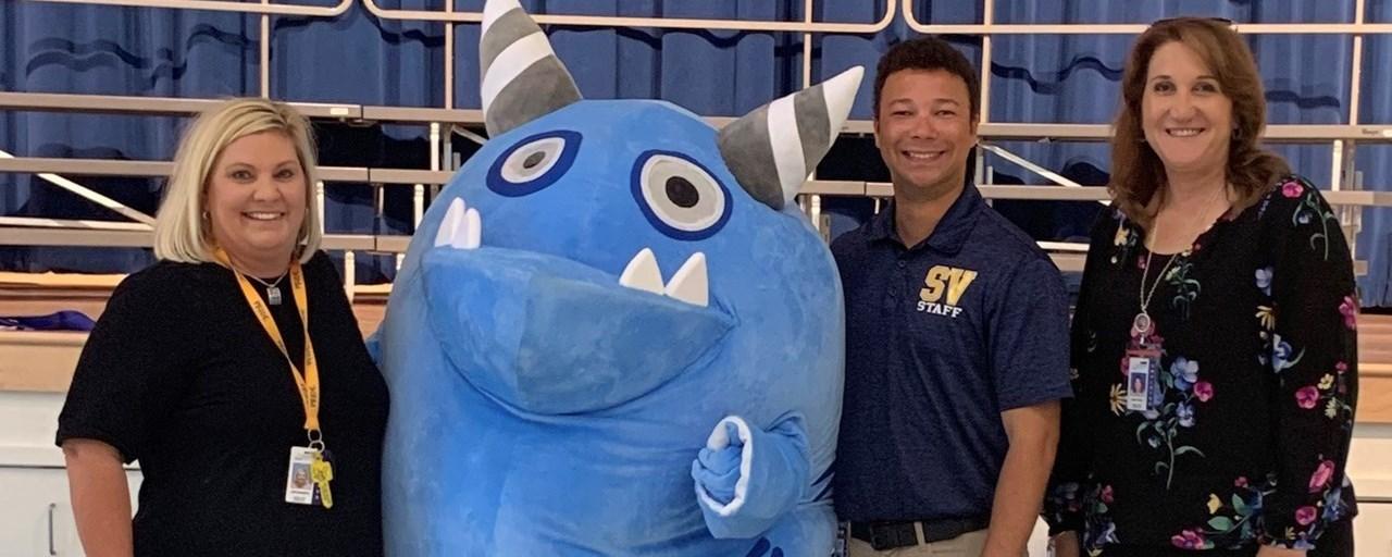 Principal, Teachers and mascot Snargg